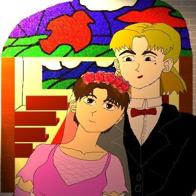 Ritsuko/Maya wedding