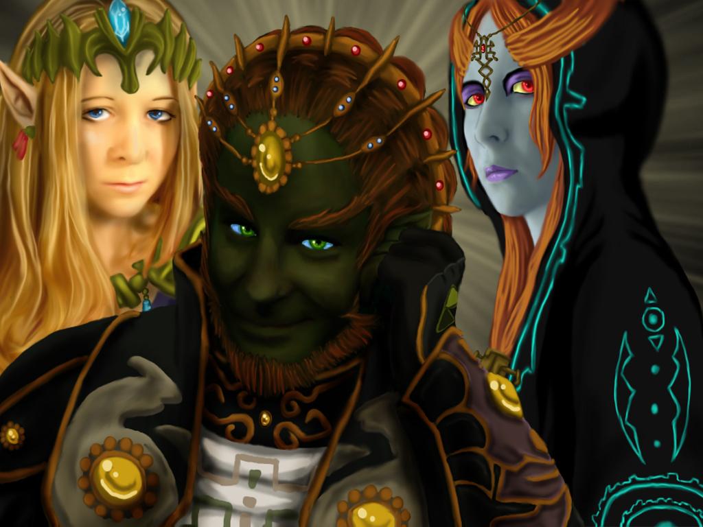 Zelda Midna and Ganon