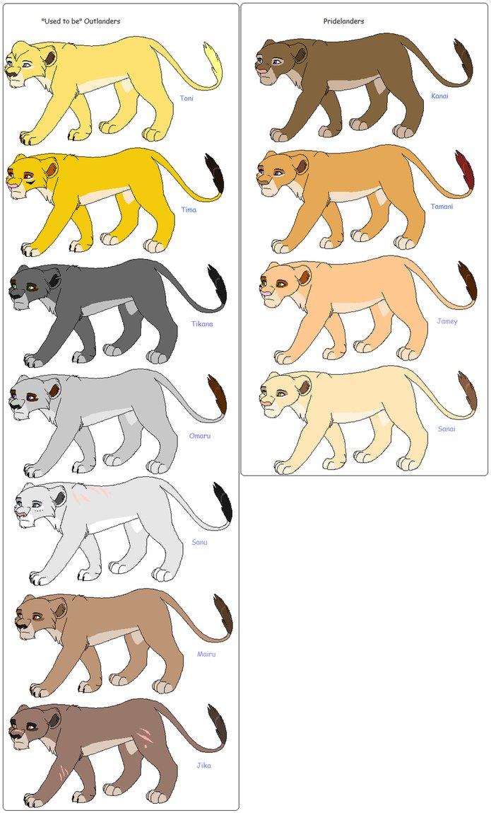 Lionesses In Kovu's Pride