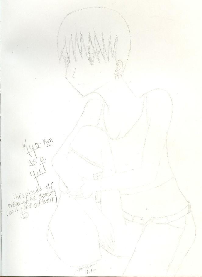 Kyo as a girl