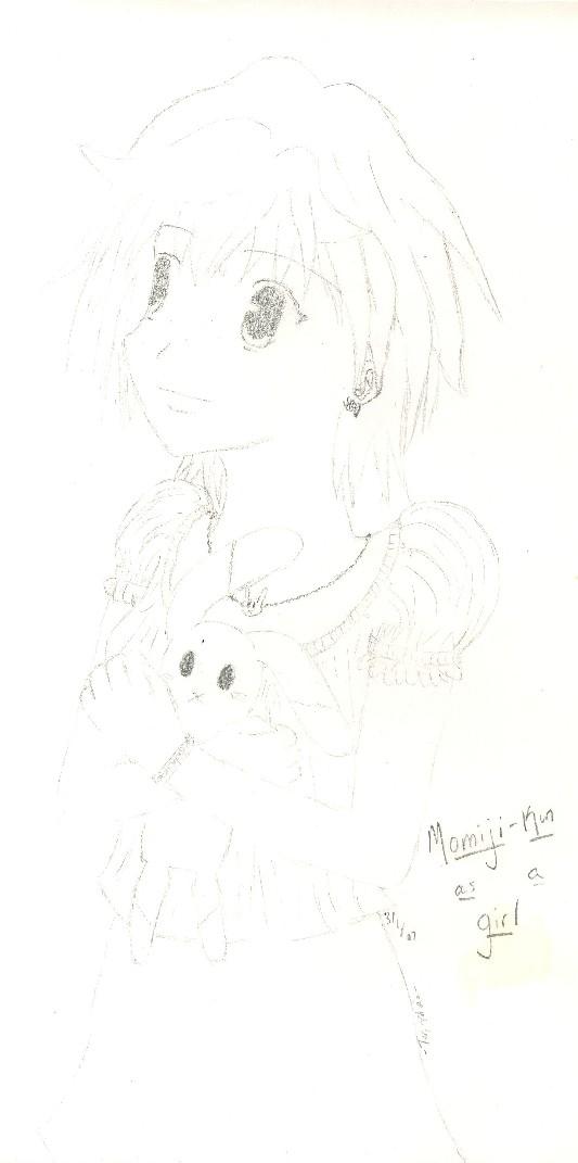 Momiji as a girl