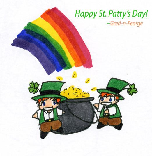 St. Patrick's chibis