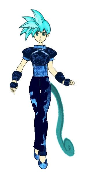 bulma as a saiyan in armor