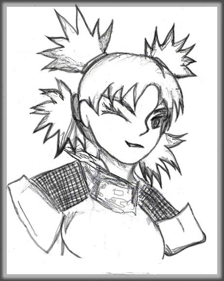 Sketch Temari Winking