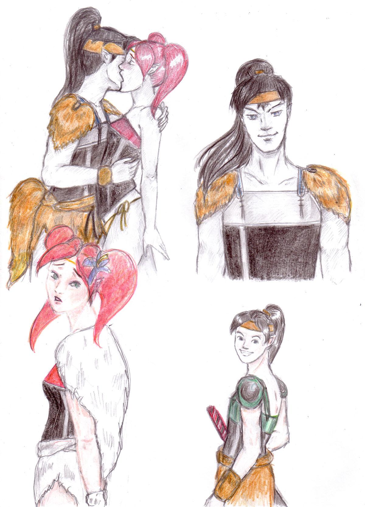KOuga and Ayame sketches
