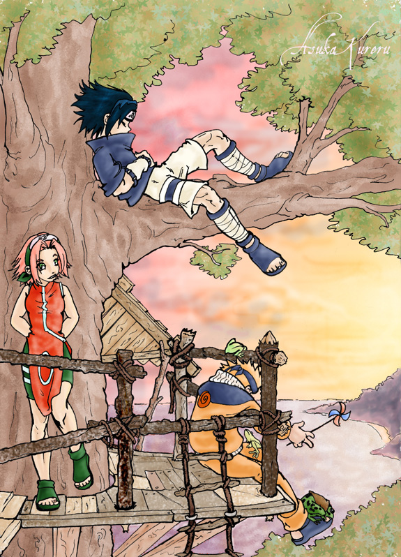 Team 7 in a treehouse
