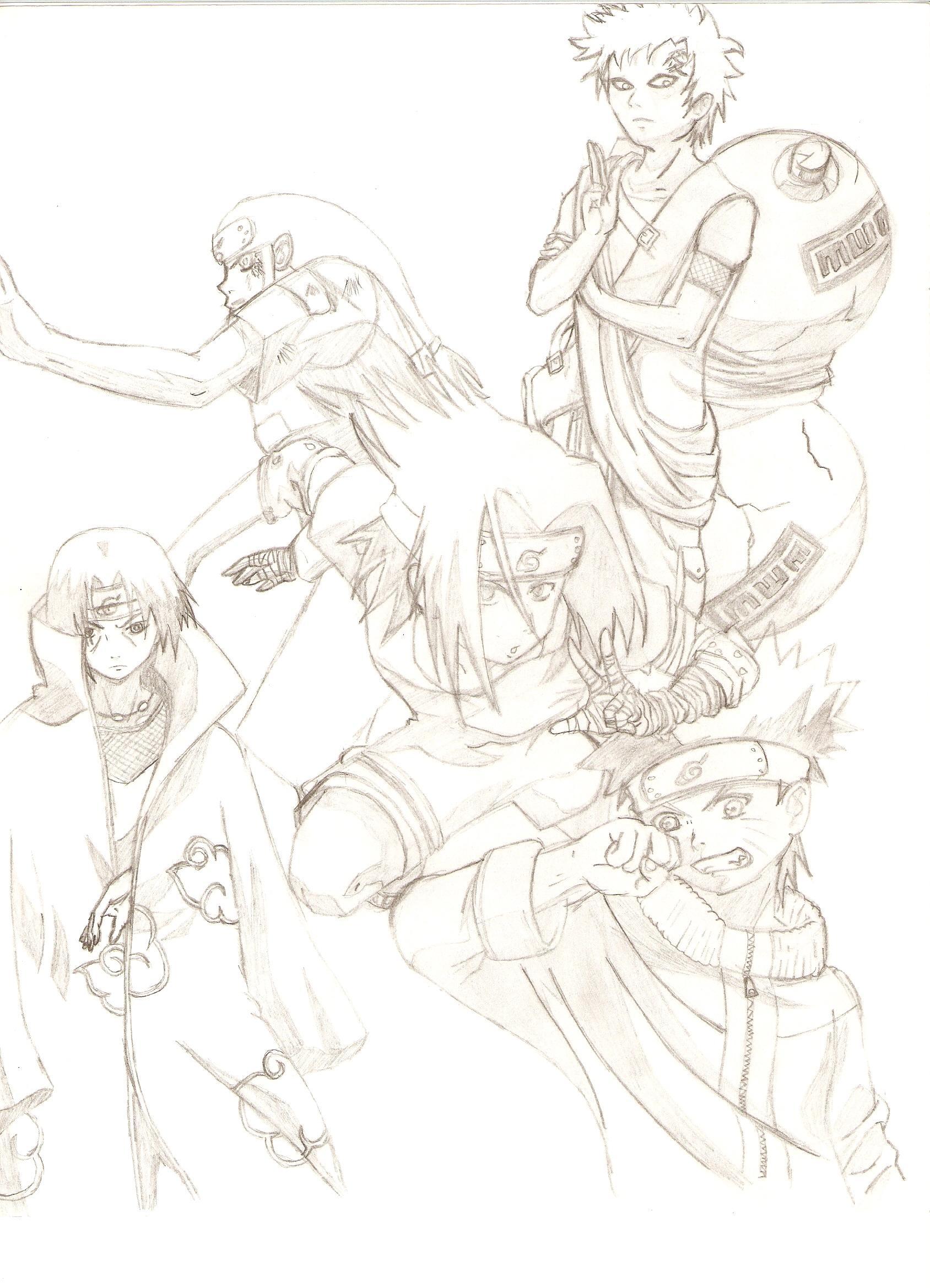 Sasuke and the ppl he hates...or dislikes