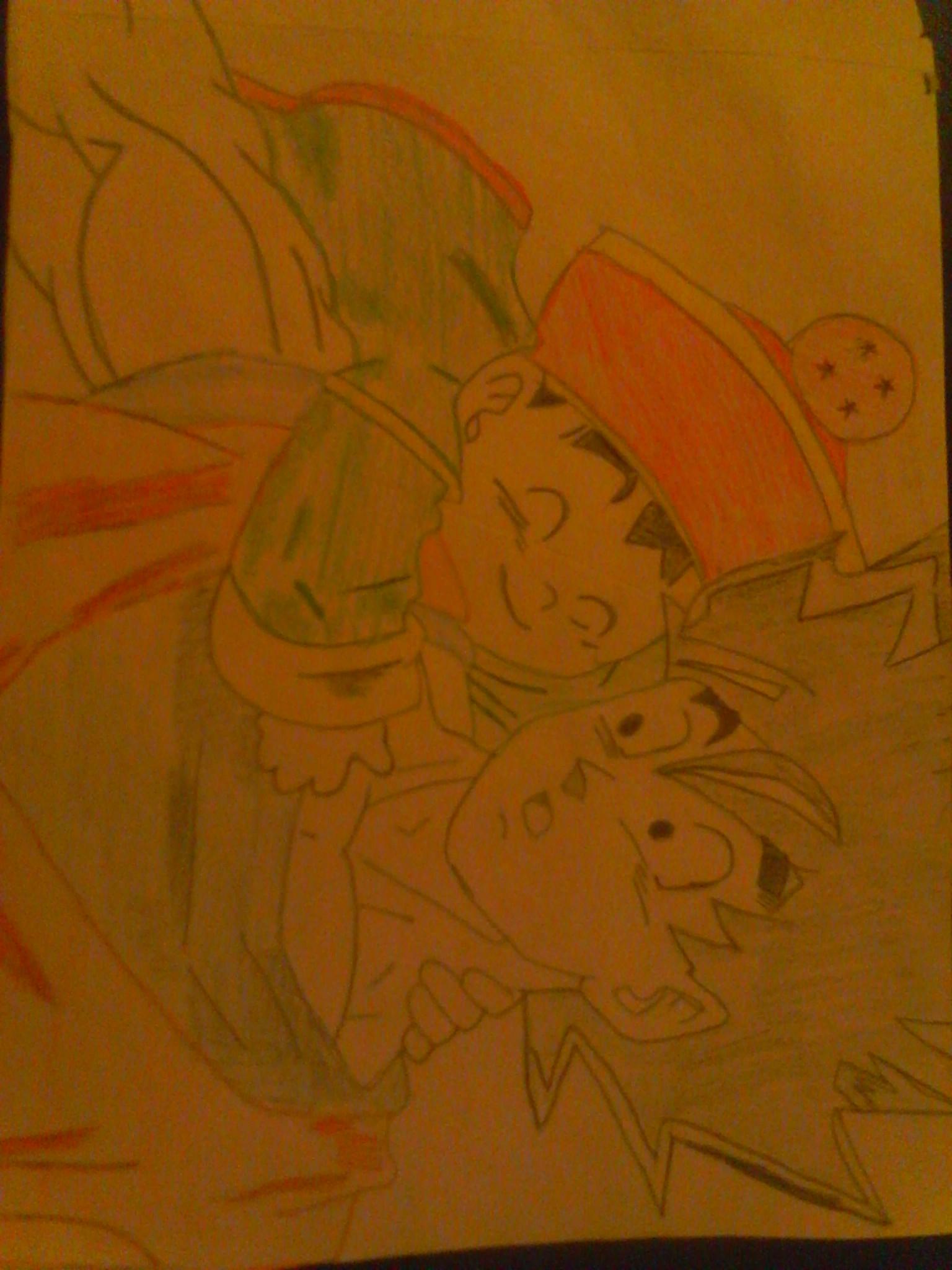 Goku and Kid Gohan